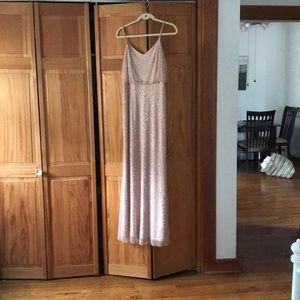 Adriana papel blouson gown blush